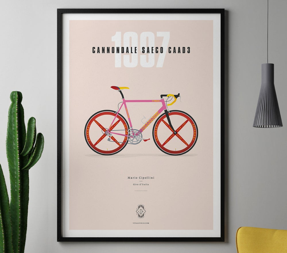 Image of Cipollini's Cannondale A3 print LIMITED EDITION - by Parallax