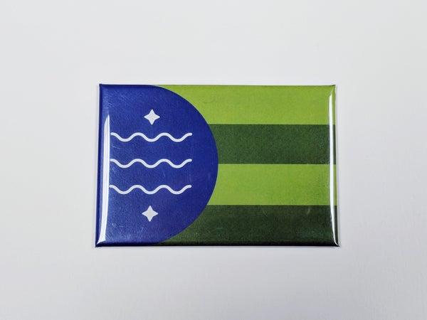Image of Bellingham Flag Refrigerator Manget