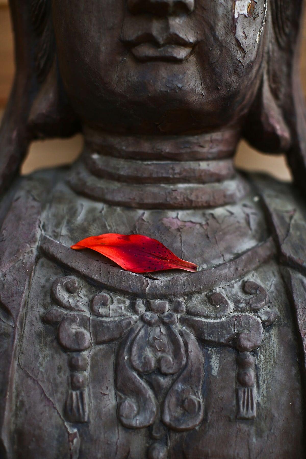 Image of Sacred Statue w/ Flower Petal (2 images) - digital download