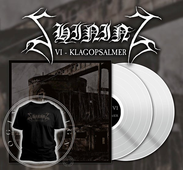 "Image of PREORDER Shining ""VI - Klagopsalmer"" SIGNED white 2x12"" vinyl w/ poster plus shirt bundle"
