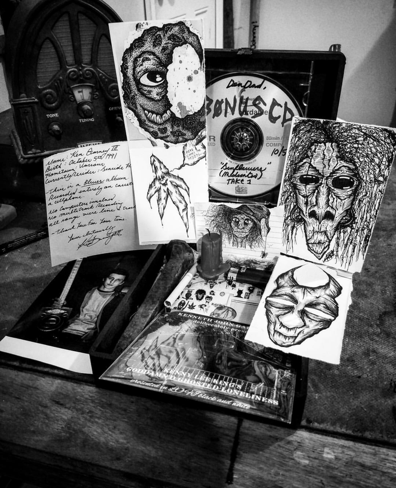 "Image of ""Kenny Lee King's Goddamn'd Ghosted Loneliness"" Cigar Box Set"
