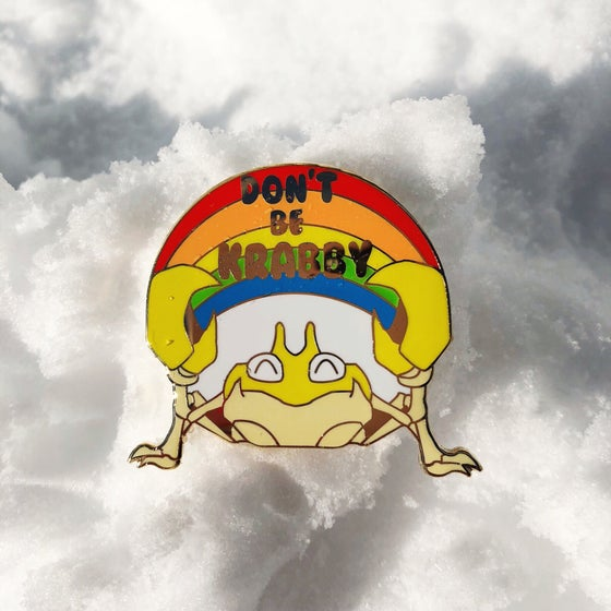 Image of DON'T BE KRABBY Enamel Pin