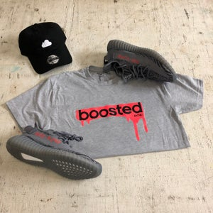 """Image of BOOSTED """"BOLD ORANGE/GREY"""" HOODY OR T-SHIRT"""