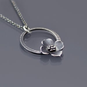 Image of Dogwood Blossom Loop Necklace