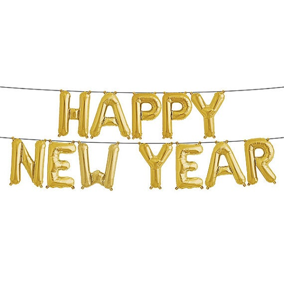 Image of Happy New Year Gold Balloon Kit