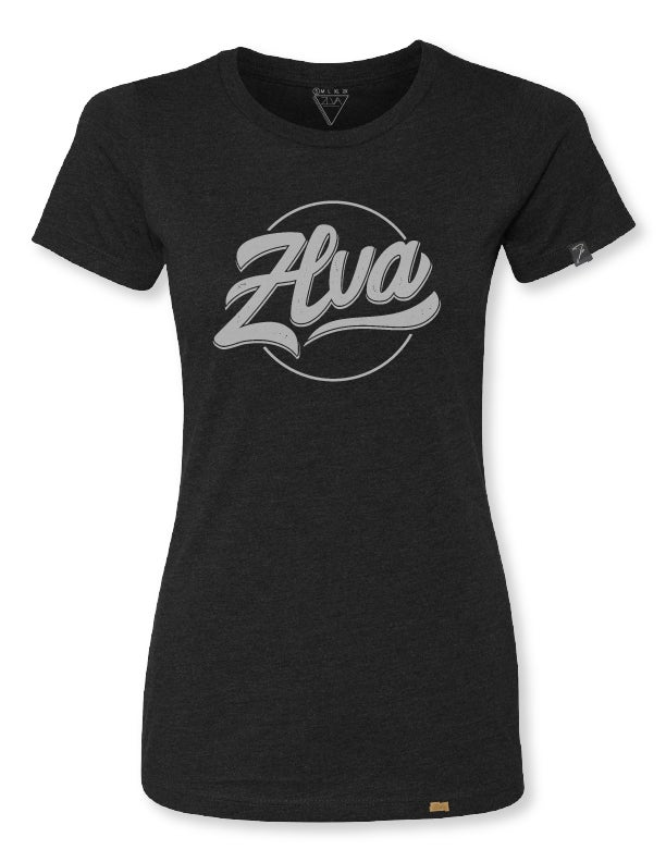 Image of ZLVA WOMEN'S BEACH LOGO TEE - BLACK