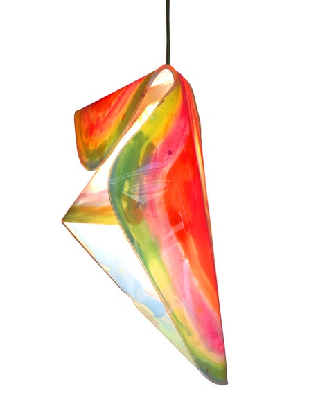 Image of crystal lamp shade (rainbow)