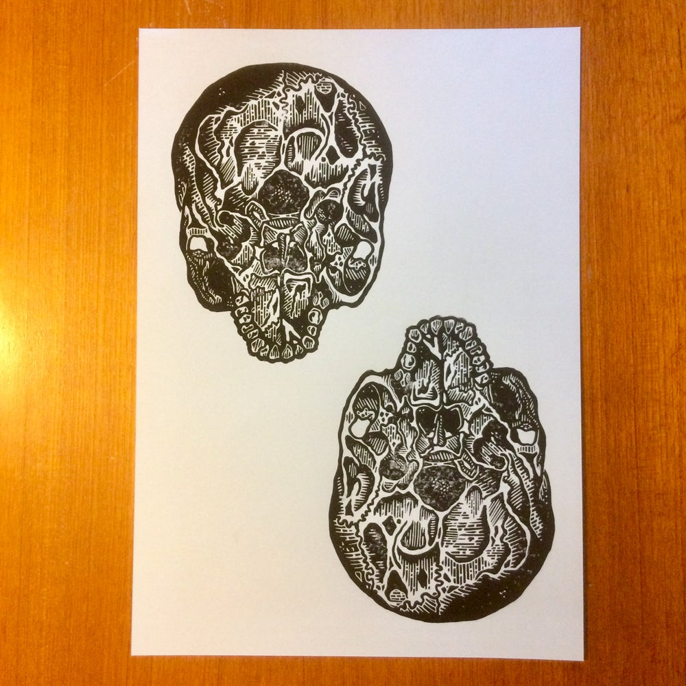 Image of Twin Skulls.     2 Pieces available.