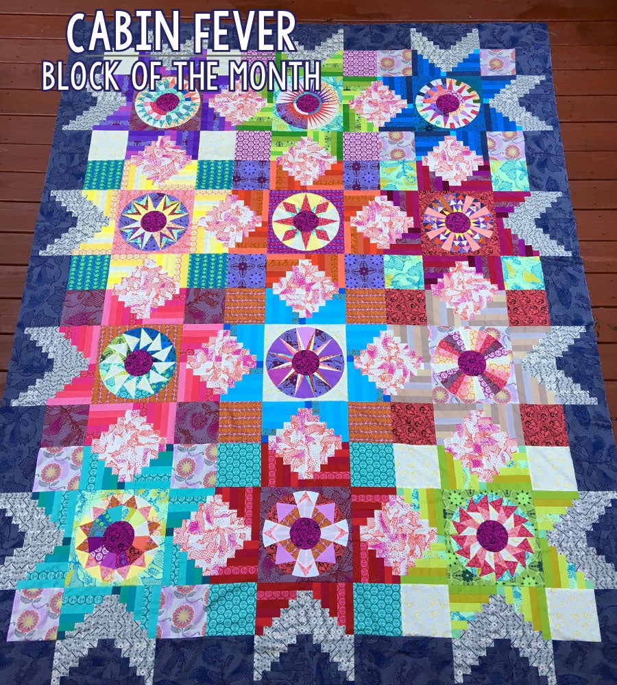 Cabin Fever ~ Block of the Month Quilt Pattern / Patterns by ... : block of the month quilt - Adamdwight.com