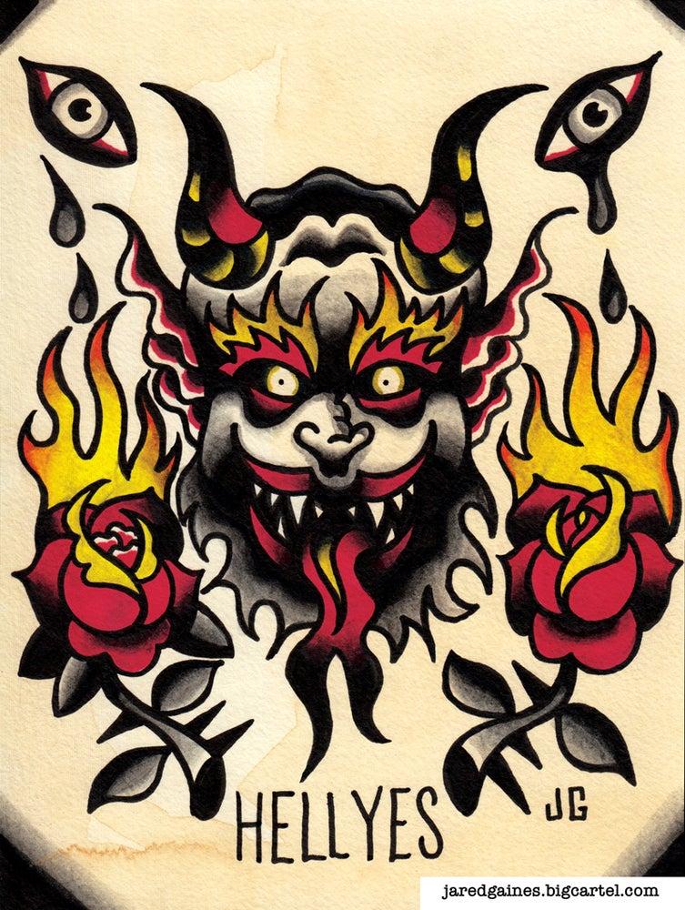 Image of Alkaline Trio Hell Yes print