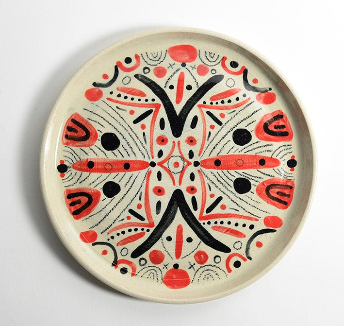 Image of Red and Black plate