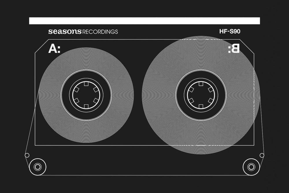 Image of Seasons 'Analog Tape' Design Hoody (Black)