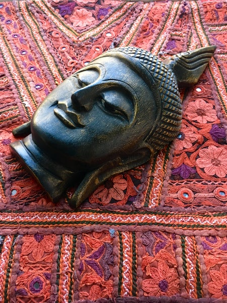 Image of Wooden Handmade Buddha Head