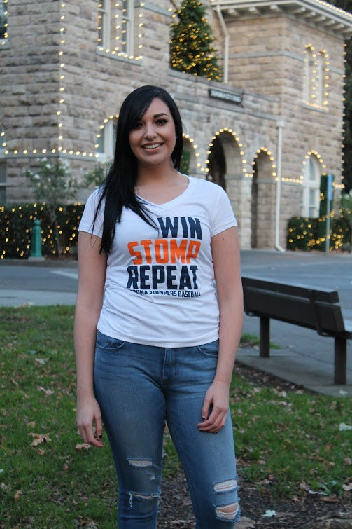 Image of Win Stomp Repeat Tee (Women's V-Neck)