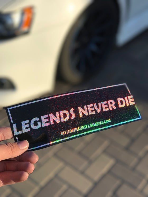 "Image of ""Legends Never Die"" Glitter Slap"