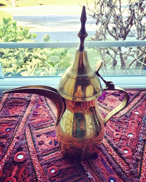 Image of Vintage Style Turkish Brass Coffee Pot