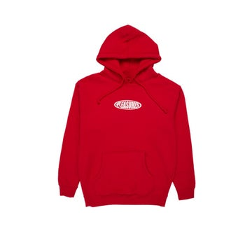 Image of PLEASURES - BUBBLE HOODIE (RED)