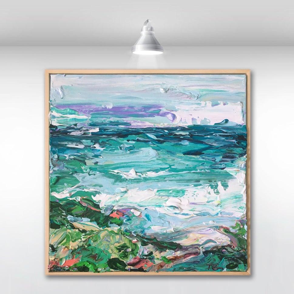 Image of Coastal no.29 - 30x30cm framed