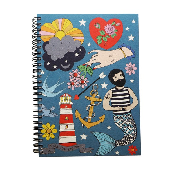 Image of **NEW** Merman A5 Spiral Notebook