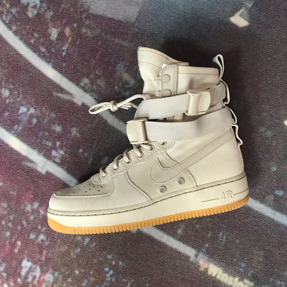 Image of Nike Air Force 1 SF - String Beige - Size 8