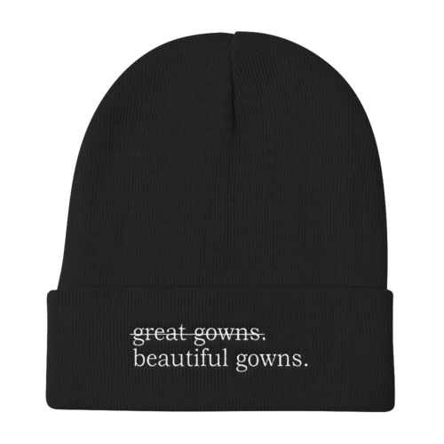 Image of great gowns/beautiful gowns Beanie