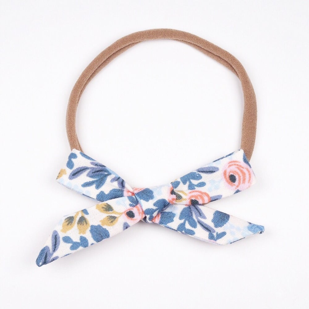Image of Schoolgirl Bow // Rosa Periwinkle x Rifle Paper Co.