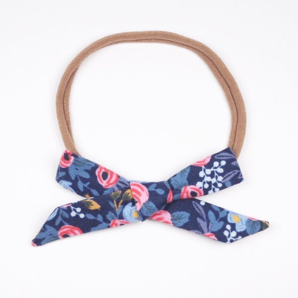 Image of Schoolgirl Bow // Rosa Navy x Rifle Paper Co.