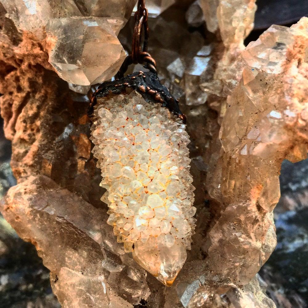 Image of *RARE* Angel Aura Fairy Quartz on Copper