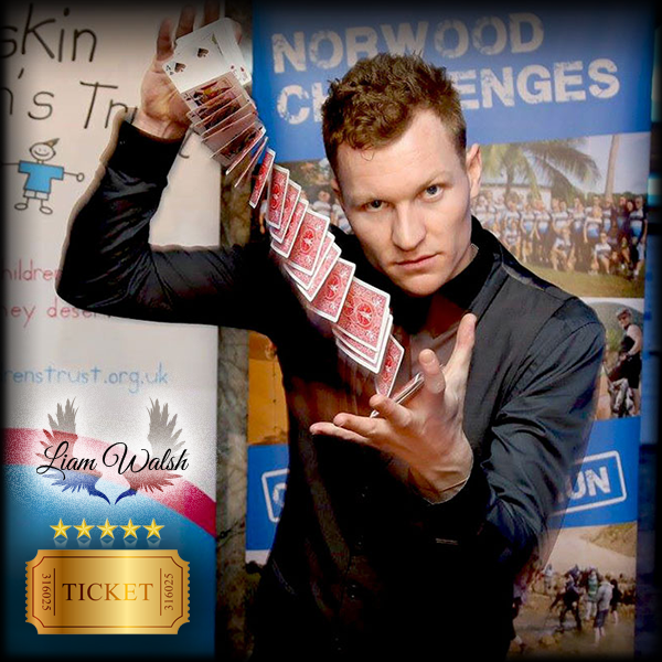 Image of Book Magician Liam Walsh (CLOSE UP MAGIC SHOW) [UK]