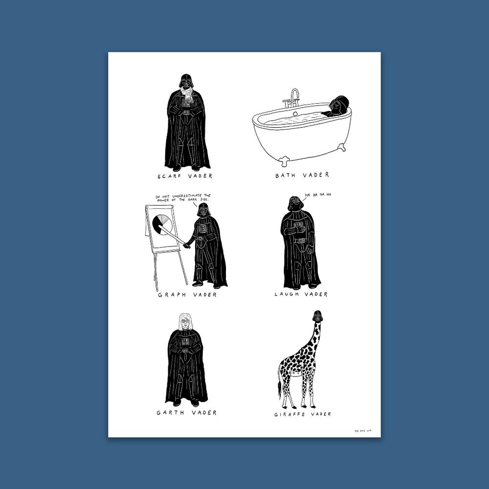 Image of Darth Vader A3 Visual Puns Poster