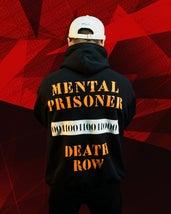 MOSTRO - FELPA MENTAL PRISONER BLACK - HONIRO STORE