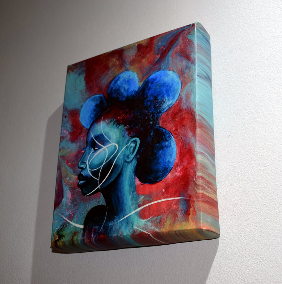 Image of ''Her Moon'' canvas box print