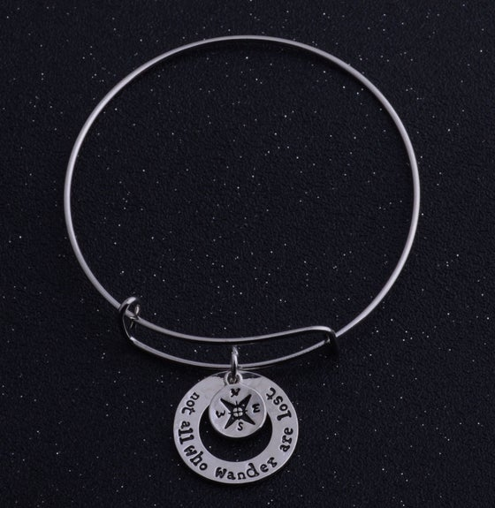Image of INSPIRATIONAL QUOTE BANGLE BRACELETS