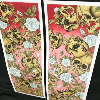 "Image of Shaun Topper's ""13 Skulls"" Prints"