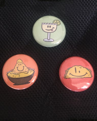 "Image of The ""Hora Feliz"" Collection 3 button pack"