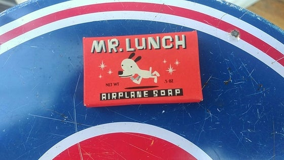 "Image of MR LUNCH PROMOTIONAL BAR OF ""AIRPLANE SOAP"" (1992)"