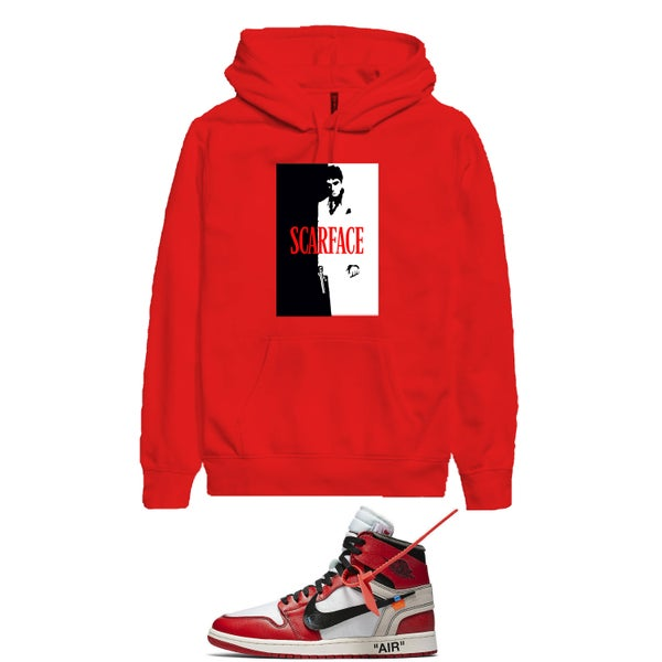 Image of SCARFACE hooded sweatshirt - RED