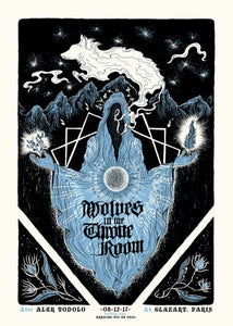 Image of WOLVES IN THE THRONE ROOM (Paris 2017) screenprinted poster