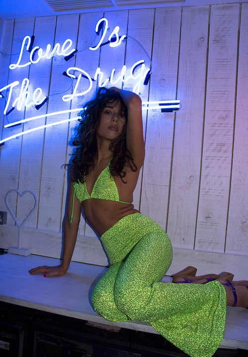 Image of Mika Sequin Set - Key Lime