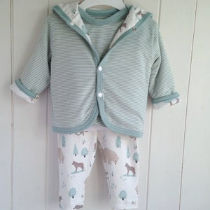 Image of Organic Wolf Baby Clothing