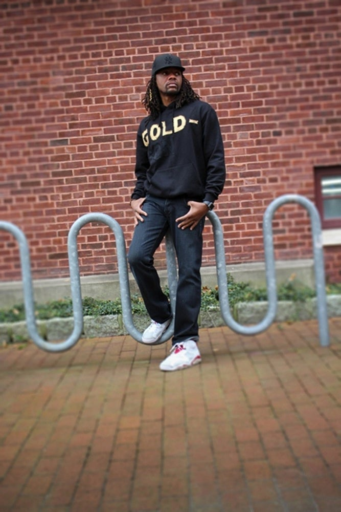 Image of Limited Edition GOLD-SON hooded sweatshirt