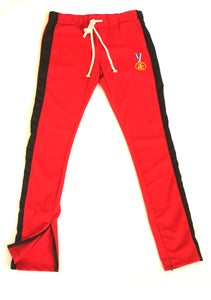Image of TRACK PANTS BLACK ON RED