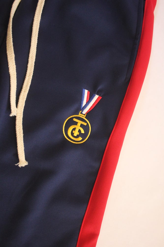 Image of TRACK PANTS NAVY BLUE