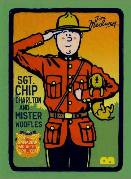 Image of Sgt.Chip Charlton & Mister Woofles of the Royal Canadian Mounted Police by Jim Medway