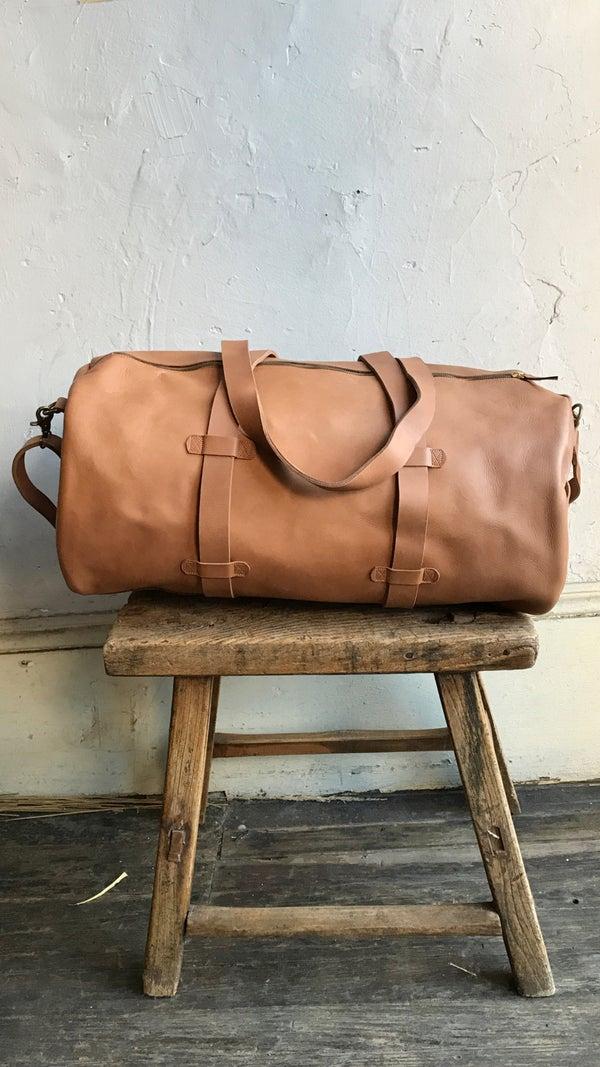 Image of Meyelo Leather Duffle Bag