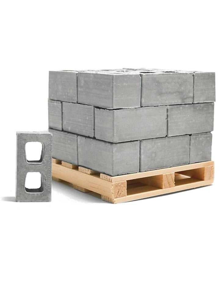 Image of Mini Materials Pallet of Cinder Blocks