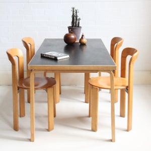 Image of Black Aalto table c 1980