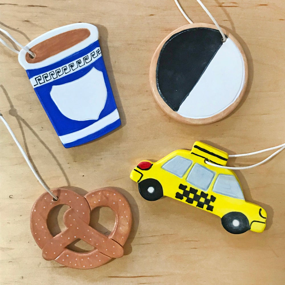 Image of Coffee Cup Ceramic Ornament