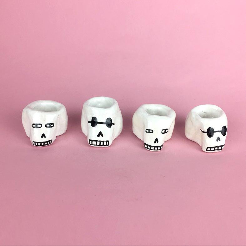 Image of Small White Skulls
