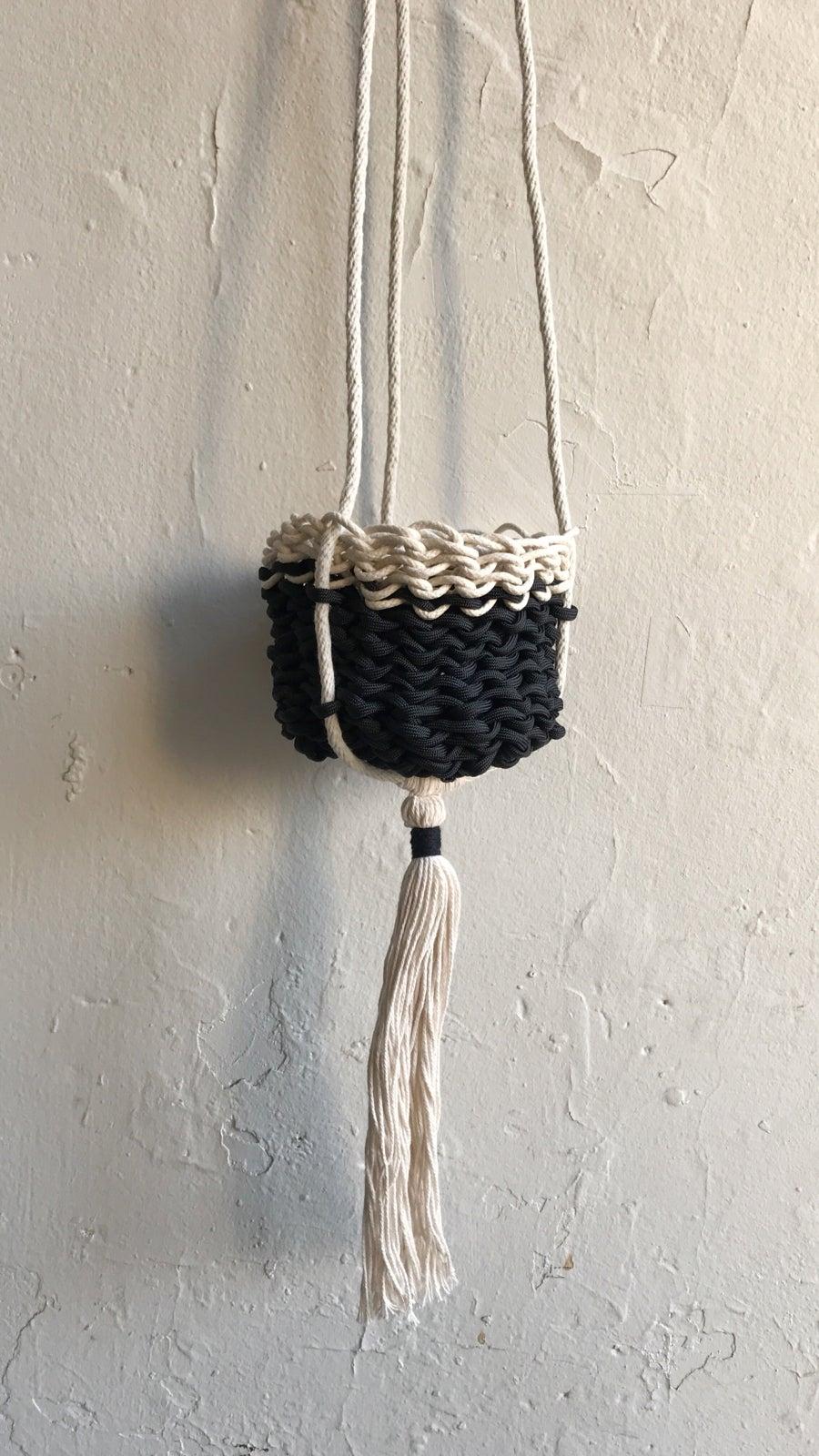 Image of Karen Gayle Tinney Crocheted Hanging Basket